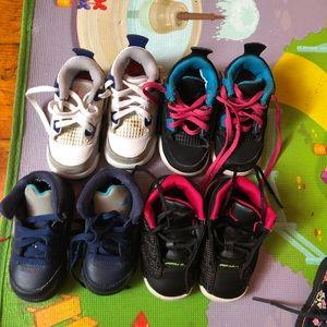 4 pairs of Jordan's toddler.